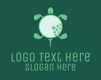 Golf Course - Golf Turtle  logo design