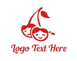 Berry - Cherry Children logo design