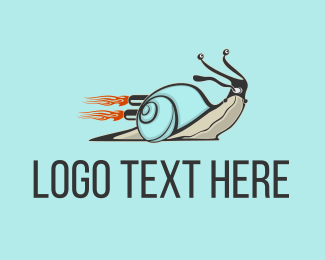 Fast - Turbo Snail logo design