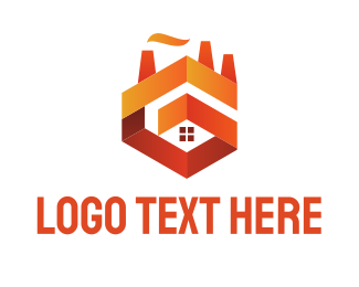 Factory - Orange Castle logo design