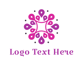 Blossom - Purple Dahlia logo design