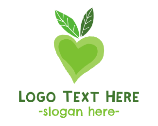 Kindness - Green Love logo design