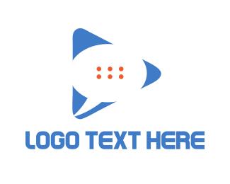 Vlog - Chat Media logo design
