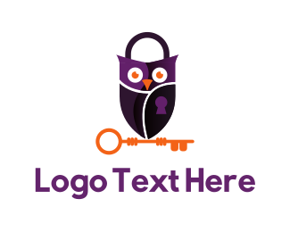 Padlock - Surveillance Owl logo design