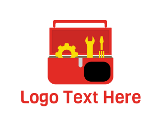 Container - Red Toolbox logo design