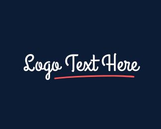 Teenager - Curly  Script logo design