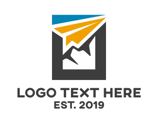 Postal Service - Abstract Paper Airplane  logo design