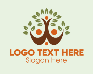 Human Resource - Brown Tree Team logo design