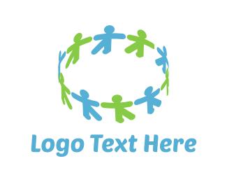 Crowd - Human Circle logo design
