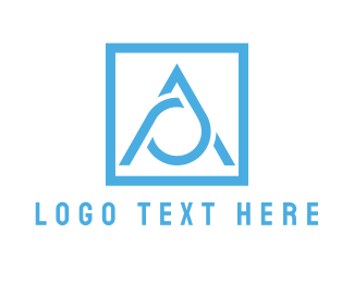 Water - Blue Letter A  logo design