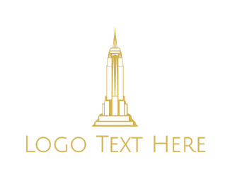 Empire State - Gold Sharp Tower logo design