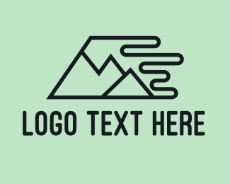 Hike - Fast Mountains logo design