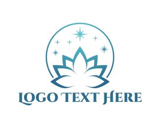 Clean - Blue Lotus  logo design