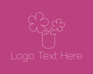 Decoration - Cute Flowers logo design