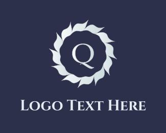 Crown - Q Flower logo design