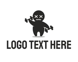 Bodybuilder - Gym Mascot Voodoo logo design
