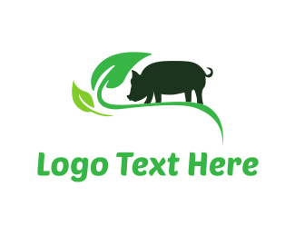 Pork - Green Pig logo design