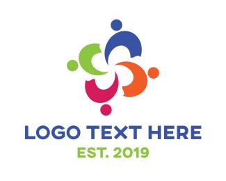 Discrimination - Colorful People Care logo design