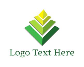Pyramid - Geometric Leaf logo design