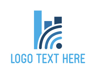 Bar Chart - Wifi Analytics logo design