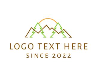 Outback - Landscape Outlines logo design