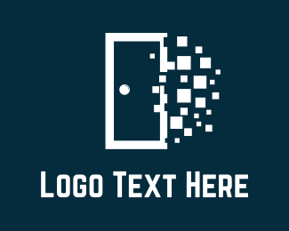 Pixel - White Door logo design