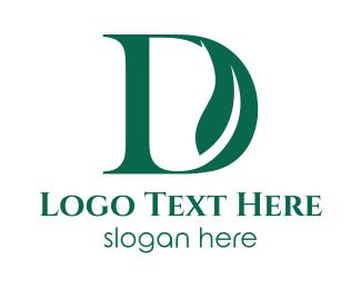 Dublin - Green D Leaf logo design
