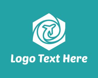 Journey - Hexagon Airplane logo design