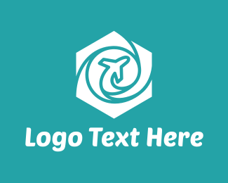 Aero - Hexagon Airplane logo design