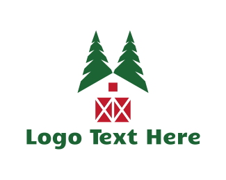 Farmhouse - Forest Cabin logo design