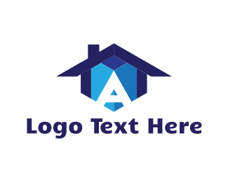 Builders - House Letter A logo design