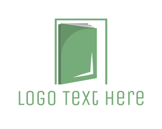 Open - Book Door logo design
