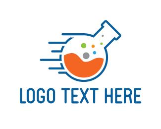 Scientific - Fast Lab logo design