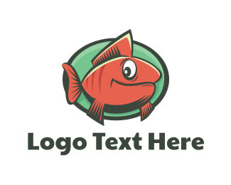 Goldfish - Goldfish Cartoon logo design