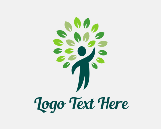 Naturopath - Green Man Reach logo design