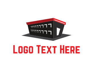 Storage - Black Warehouse logo design