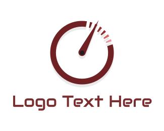 Stopwatch - Speedometer Circle logo design