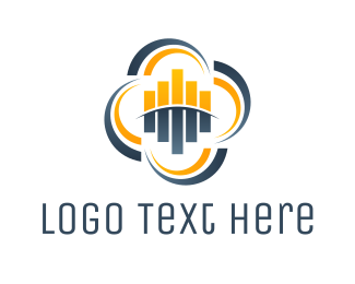 Bar Chart - Audio Cloud logo design