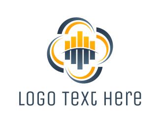 Equalizer - Audio Cloud logo design