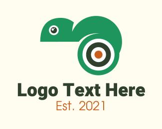 Lizard - Target Chameleon logo design