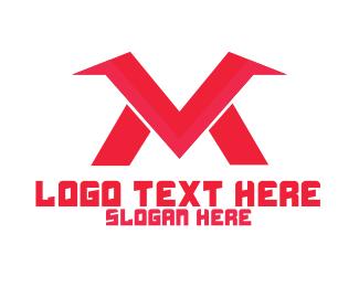 Sports Store - M & V logo design