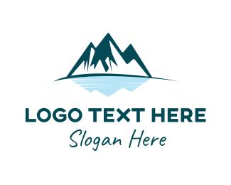 Lake - Mountain Lake  logo design