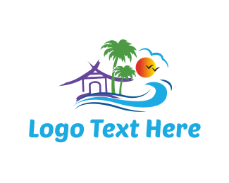 Hawaiian - Beach House logo design
