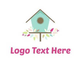 Birdhouse - Cute Birdhouse logo design