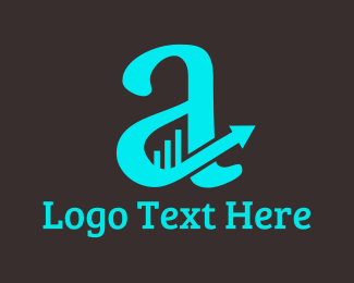Financial Service - Financial Letter A logo design