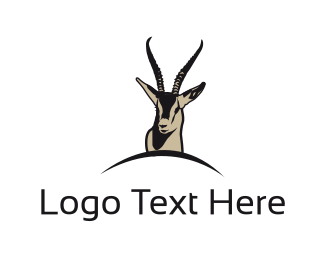 Impala - Brown Gazelle  logo design