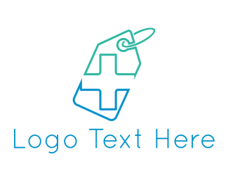 Clinic - Pharmacy Tag logo design