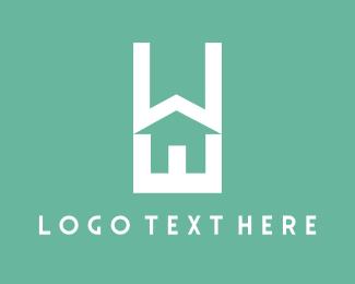 Contractor - Home Text logo design