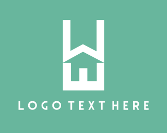 Contractor - Home Text logo design