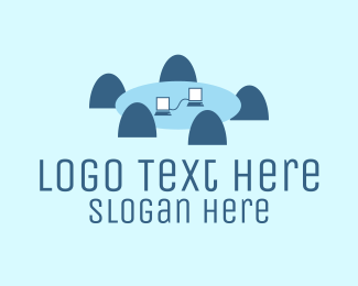 Business Software - Business Table logo design